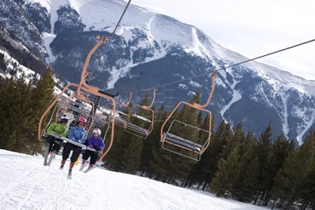 Copper Mountain ski area -